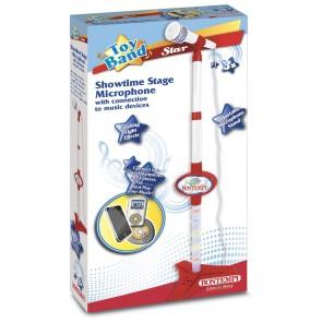 Toy Band Star. Microfono Da Palcoscenico O Da Tavolo Asta Regolabile In Altezza Connessione A Dispositivi Esterni