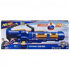 Nerf- Titan CS-50 Blaster Motorizzato con Tamburo Rotante da 50 Dardi