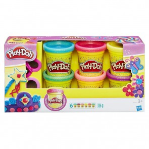 Play-Doh. 6 Vasetti Brillanti