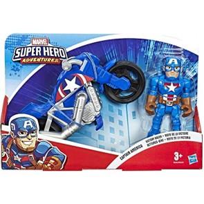 Marvel Super Hero Adventures. Captain America con moto