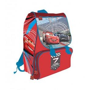 Zaino Cartella Cars Per La Scuola Elementare Estensibile 40cm '7 Time Champ'