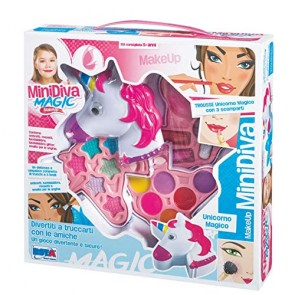 Minidiva Magic Make Up. Trousse Unicorno Magico 3 scomparti