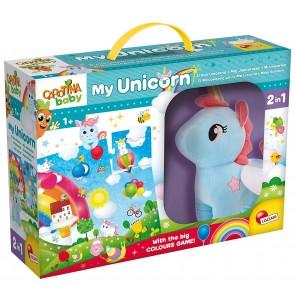 Carotina Baby. Unicorno Peluche + Mega Puzzle