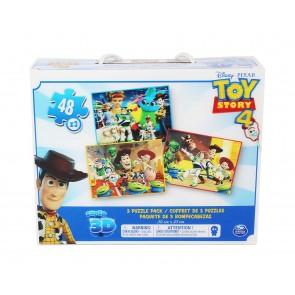 Disney Toy Story 4. 3 Diversi Puzzle Lenticolari In Scatola Con Maniglia