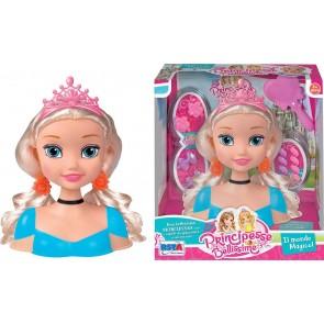 Principesse Bellissime. Busto Principessa da Pettinare con Accessori