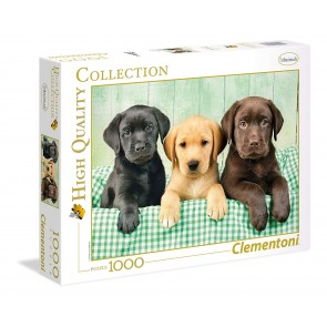 Puzzle 1000 pezzi High Quality Collection. I Tre Labrador