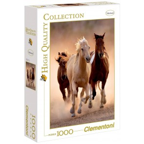 Puzzle 1000 pezzi Running Horses. High Quality Collection