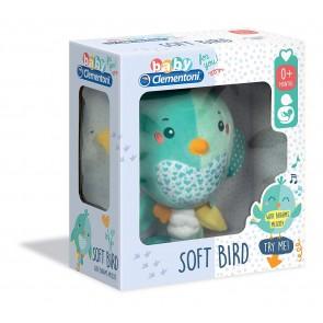 Baby Clementoni. Soft Bird Musical Peluche