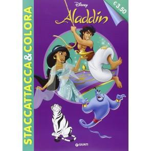 Aladdin. Staccattacca e colora. Con adesivi. Ediz. illustrata