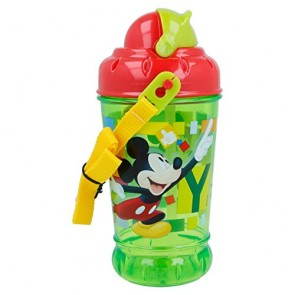 Mickey Mouse. Borraccia con tappo e cannuccia 440 ml. Disney