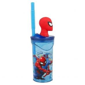 Spiderman. Bicchieri 3D con cannuccia 360 ml