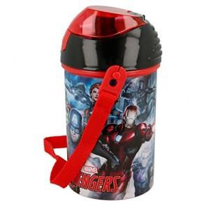 Avengers. Borraccia con cannuccia 450 ml