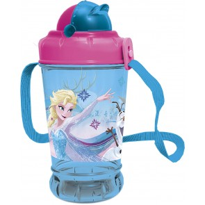 Frozen. Borraccia con tappo e cannuccia 440 ml. Disney