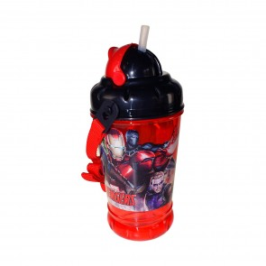 Avengers. Borraccia con tappo e cannuccia 440 ml