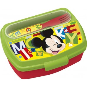 Mickey Mouse . Set porta merenda + posate. Disney