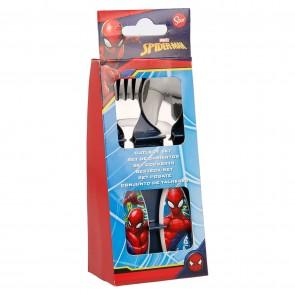 Spider-man. Set posate in metallo due pezzi. Marvel