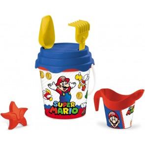 Super Mario Set da Spiaggia Secchiello + Accessori