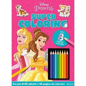 Princess. Super coloring. Con adesivi. Ediz. a colori. Con 8 matite colorate