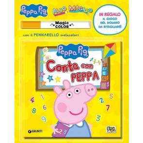 Conta con Peppa. Albo magico. Peppa Pig. Ediz. a colori. Con pennarello svelacolori