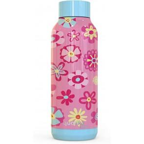 Quokka Kids Solid, Flowers 510 ML. Bottiglia d'acqua Thermo - Acciaio Inox