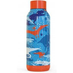 Quokka Kids Solid, Dinosaur 510 ML. Bottiglia d'acqua Thermo - Acciaio Inox