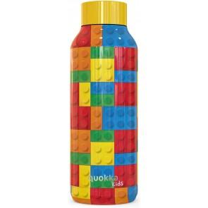 Quokka Kids Solid, Color Bricks 510 ML. Bottiglia d'acqua Thermo - Acciaio Inox