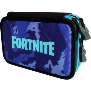 Fortnite. Astuccio Camouflage Blu Completo di Colori e Accessori