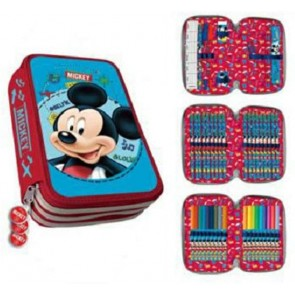 Mickey Mouse. Astuccio con 3 zip, 44 Pezzi