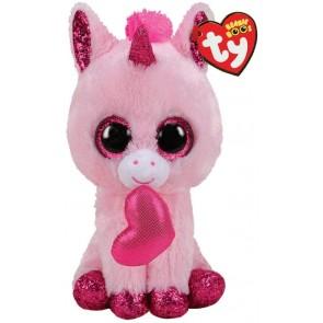 Beanie Boo's. Peluche unicorno san valentino, Darling 15 cm
