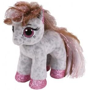 Beanie Boos. Peluche pony bianco e grigio, Cinnamon 15 cm