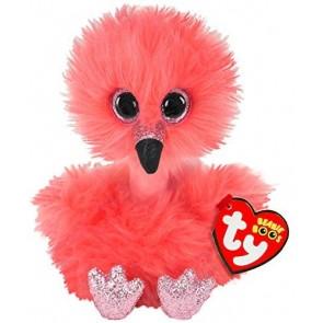 Beanie Boos. Peluche fenicottero rosa, Franny 15 cm