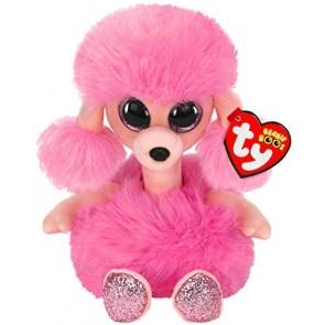 Beanie Boos. Peluche barboncino rosa glitterato, Camilla 15 cm