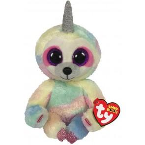 Beanie Boos. Peluche bradipo unicorno multicolore, Cooper 15 cm