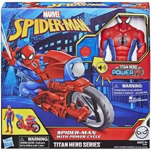 Titan Hero. Spider-Man 30 cm con moto