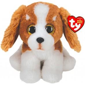 Beanie Babies. Peluche cane marrone e bianco, Barker 15 cm