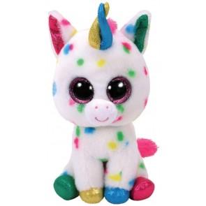 Beanie Boos. Peluche Unicorno bianco a pois, Harmonie 28 cm