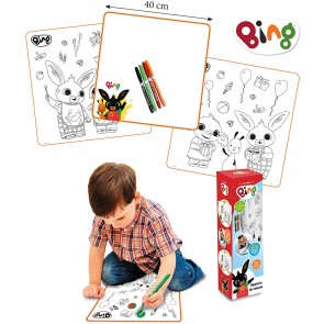 Bing Tappeto da colorare + pennarelli