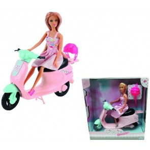 City Life Fashion Doll 29 CM con Scooter