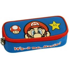 Astuccio ovale organizzato Super Mario Blu