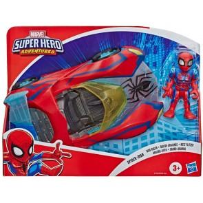 Super Hero Adventures Spider-Man Web Racer con veicolo