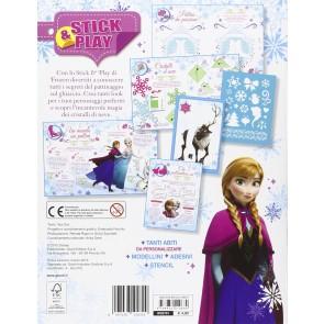 Crea un mondo di ghiaccio. Stick & play. Frozen. Con adesivi