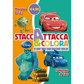 Monster & Co-Il mondo di Cars. Staccattacca e colora special. Con ade sivi. Ediz. illustrata