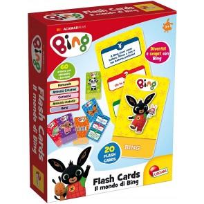Bing flash cards in display