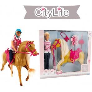 City Life Cavallo + Fashion Doll 29 cm