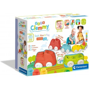 Soft Clemmy Trenino Sensoriale + 8 Mattoncini Soft