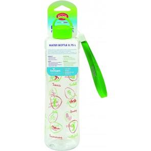 Bottiglia in Tritan 0,75 LT-Trasparente con Decoro Sport, Verde