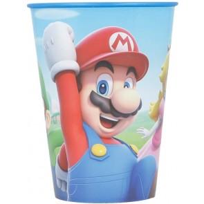 Super Mario. Bicchiere in plastica 260 ml