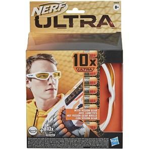 Nerf 10 dardi Vision Gear ricarica per blaster Nerf Ultra con incluso un paio di occhiali protettivi