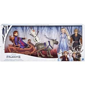 Frozen 2 Multipack Con Anna, Elsa, Kristoff, Olaf, Sven E Slitta
