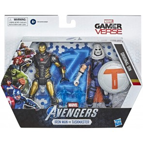Avengers Dualpack Personaggi 15cm Game Iron Man And Task Master